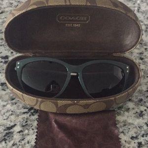 Seafoam Green Coach Sunglasses
